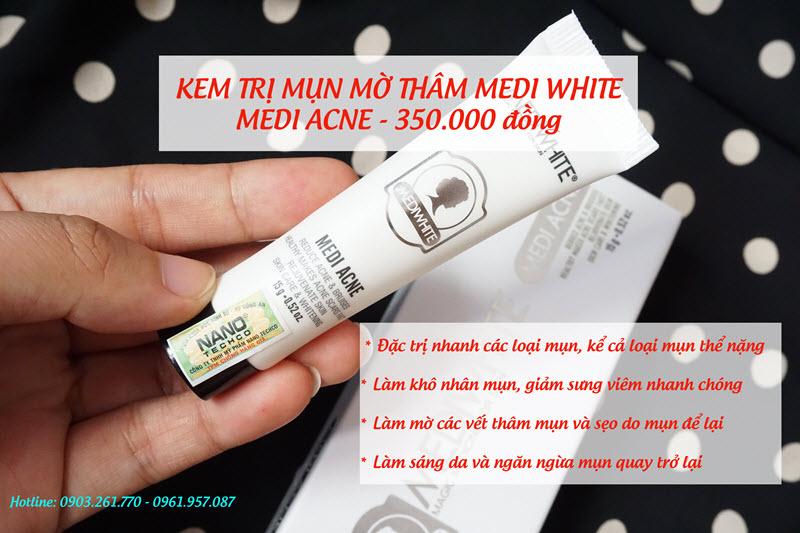 kem trị mụn medi white