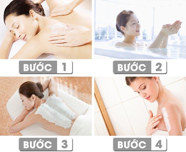 Cách sử dụng kem tắm trắng Medi White Bath