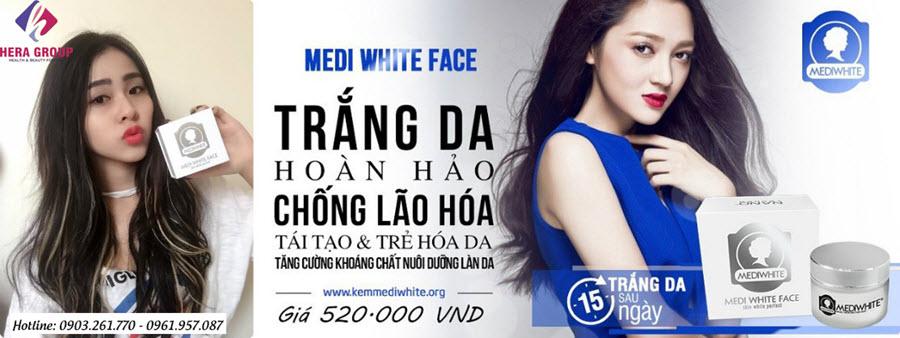 kem dưỡng trắng da medi white face