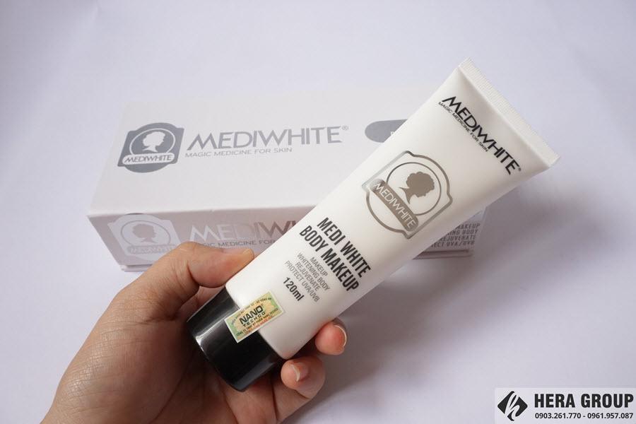 kem trang điểm trắng da toàn thân medi white