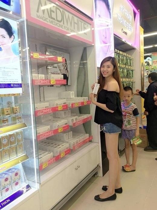 Mỹ phẩm Medi White được bày bán tại Lotte Mart Gò Vấp