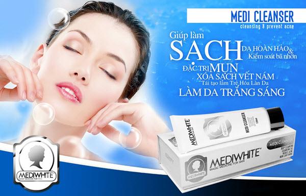 Sữa rửa mặt trị mụn Medi White Cleanser