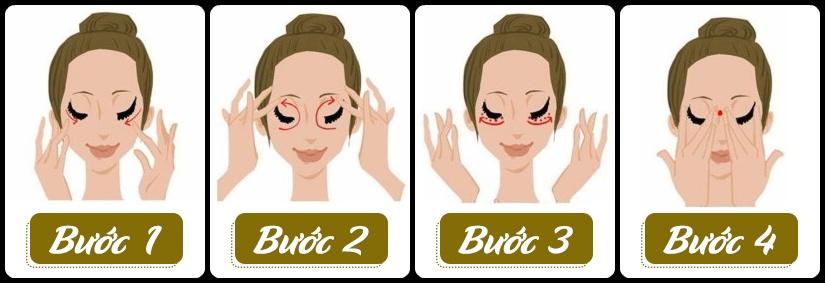 Cách sử dụng Kem chống thâm quầng mắt Medi White