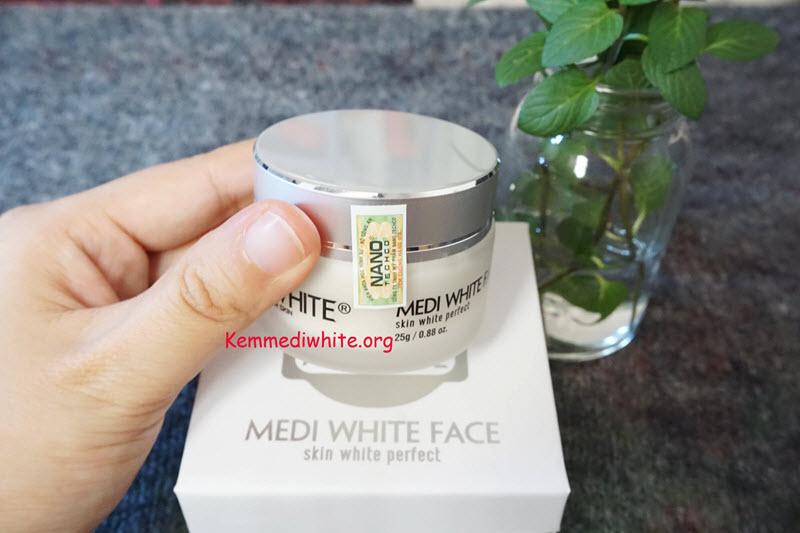 Kem dưỡng trắng da mặt Medi White giá bao nhiêu