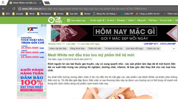 Medi White mở đầu trào lưu mỹ phẩm thế hệ mới