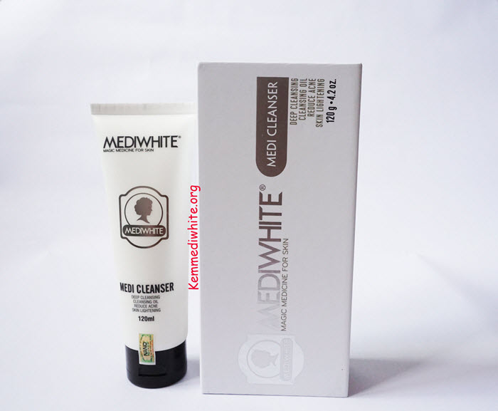Review sữa rửa mặt Medi White